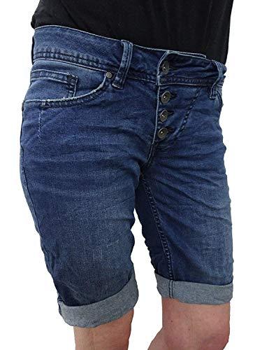 retch Jeans Shorts Bermuda Krempelhose Malibu Middle Blue XL ()
