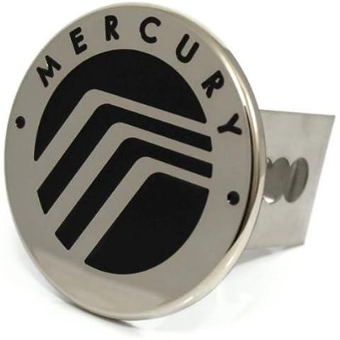 Mercury-Telo di copertura per gancio traino, colore: nero con Logo 5,08 cm (2