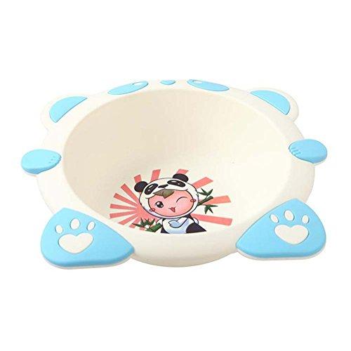 (Anqeeso Baby Fuß Waschbecken, PP Dicker Cute Cartoon Form Mehrzweck Becken Kinder Waschbecken für Home Badezimmer, Blau, L: 38x34x8cm)