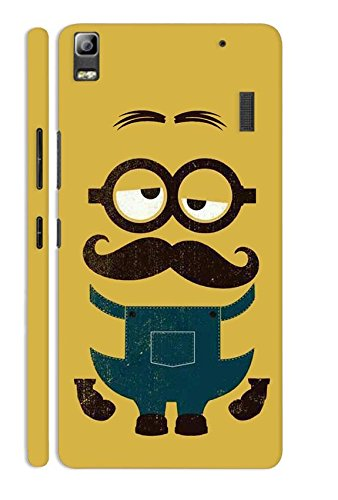 Case Cloud Lenovo K3 Note (Minion) Designer Printed Hard Back Cover - Yellow
