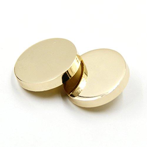 Nähen flach Metall Button Shirt Coat Anzug Schnalle Knöpfen, gold, 20 mm 10pcs