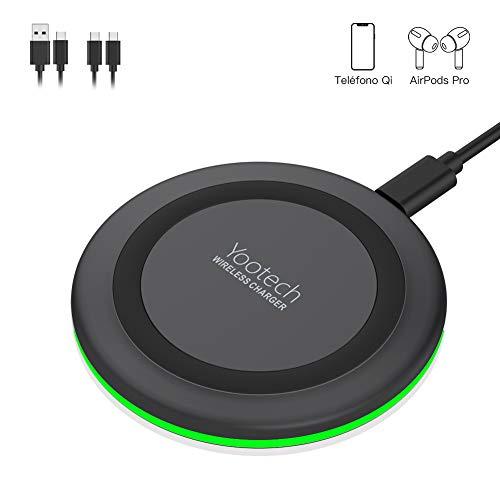 yootech Chargeur sans Fil, Qi Chargeur à Induction pour iPhone 11/11 Pro/11 Pro Max/XS MAX/XR/XS/X/8/8 Plus/AirPods Pro 2019, 10W pour Galaxy S10/10+/10e/S9/ S9+/S9 Plus/Note 8/S8/S8 Plus, etc