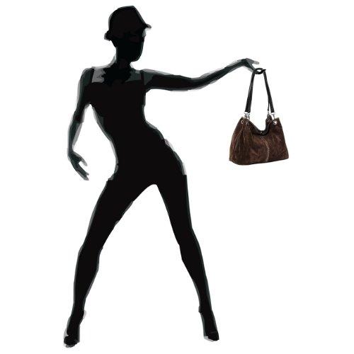 CASPAR Taschen & Accessoires, Borsa a spalla donna dunkelbraun