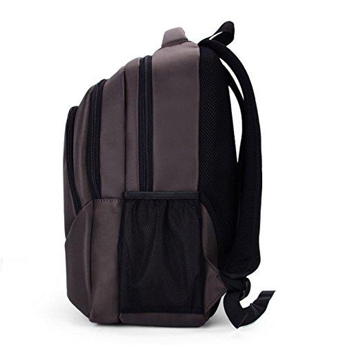 Rucksack Herrenmode Student Tasche Schultaschen Reisepaket Brown