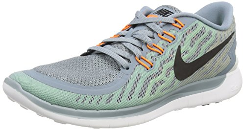 Nike Free 5.0, Herren Laufschuhe Grau (Dove Grey/Black/Electric Green/Volt)