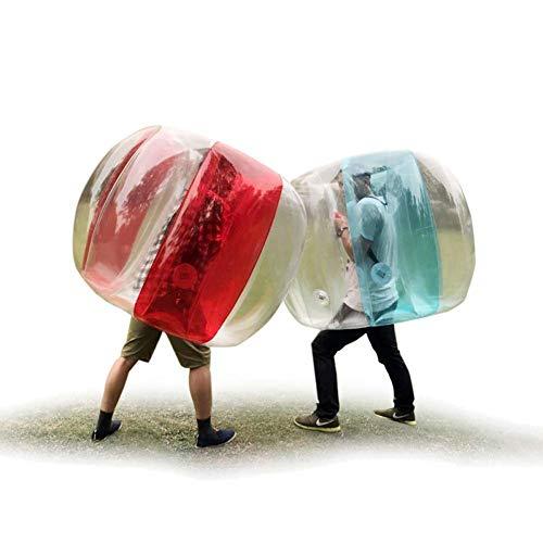 Riesiger aufblasbarer Ball, riesiger Wasserball, tragbarer Zorb-Ballstoßfänger Transparente Fenster zur Verbesserung der Sichtbarkeit, Hochleistung, sicherer Kunststoff für sichereres Spiel,Blue