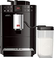Melitta Varianza CSP F57/0-102, Bean to Cup Coffee Machine, Cappuccino Maker, One Touch Feature, My Bean Select, Milk Container Included