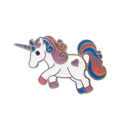 Qinlee Kinder Broschen Einhorn Pegasus Anstecknadeln Kragen Pin Damen Mädchen Mode Geschenk Dekor Hochzeiten Bankette Schmuck