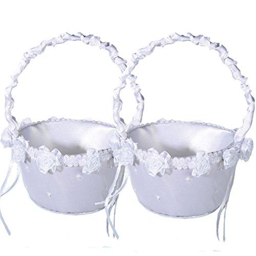 Bada Bing 2er Set Blumen Korb Blumenstreukorb Blumenmädchen Just Married Hochzeit