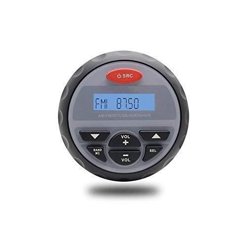 10,2 cm Zoll Wasserdicht Marine Bluetooth Radio FM AM Stereo Wasserdicht Boot Stereo Audio MP3 Player für Spa UTV ATV Auto Motorrad Marine Audio Boot