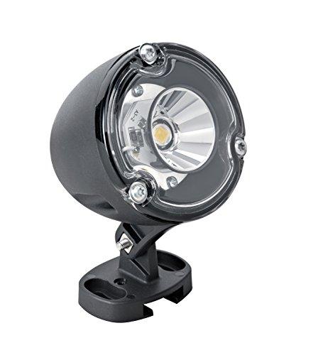 Aric 5058 Telo Projecteur LED avec Piquet de Jardin 3500K Aluminium Blanc Chaud 3,6 W