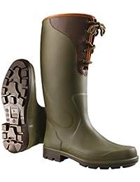 Nuevo Dunlop Purofort Sanday superior verde/marrón Botas - 40 - P183453