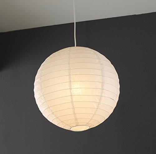 Papierleuchte Pendelleuchte Deckenleuchte Deckenlampe | Papier | Ø 40 cm | Weiß