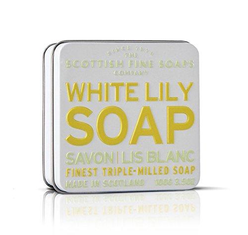 Dans une boîte de savon fine écossais - White Lily savon 100 g