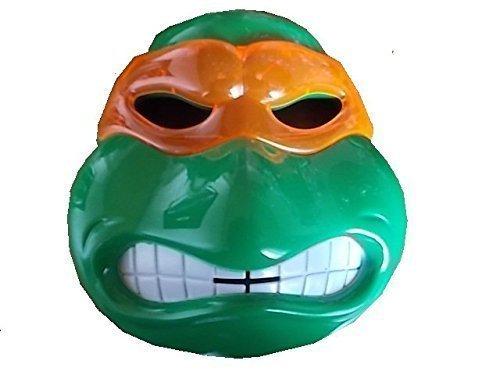 (Neue Turle Ninja Maske (orange Schleier Michaelangelo) mit LED Beleuchtung für Kinder)