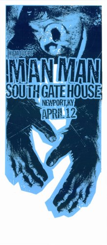 Man Man 12/04/07Newport Limited Edition Silkscreen Musik Poster von Print Mafia Original unterschrieben und nummeriert mit: Man Man (Silkscreen-drucken)