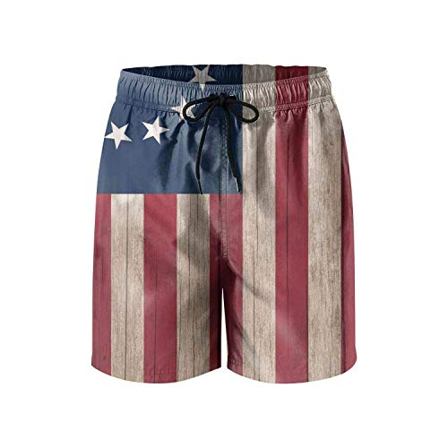 Betsy Ross Flag Mens Swim Trunks Quick Dry Board Shorts Swimwear for Men with Pockets (XXL) -