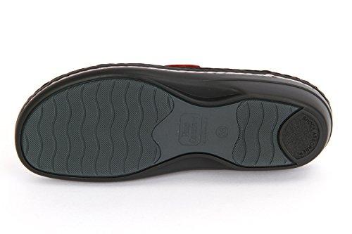 FinnComfort MIRA-S 82582901238 Damen Pantolette, Rot 41 EU red/flamme