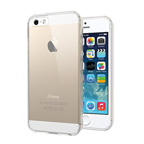Coque Iphone 5SE, luvvitt vue [Transparent] Coque arrière hybride résistante aux rayures avec Bumper antichocs pour Apple iPhone 5SE édition spéciale 6C Mini