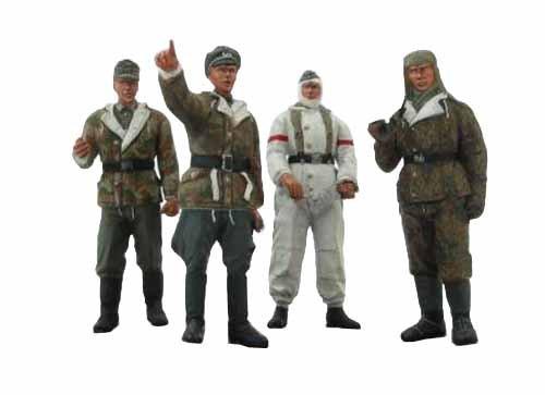 1/35 WWII Winter Tarnkleidung deutsche Infanterie