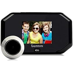Daminin 1.0MP HD 3.0 TFT puerta mirilla visor cámara IR 145 grados lente 3 * 1.5V / AA batería ahorro de energía