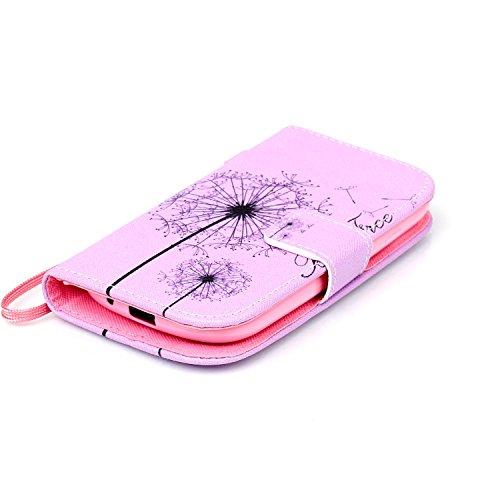 Meet de Samsung Galaxy S3 mini I8190 Bookstyle Étui Housse étui coque Case Cover smart flip cuir Case à rabat pour Galaxy S3 mini I8190 Coque de protection Portefeuille - this iphone is locked slide t Dandelion Rose