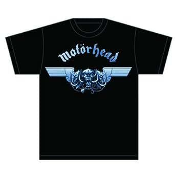 Motorhead Men Tri-Skull Short Sleeve T-Shirt, Black, Small
