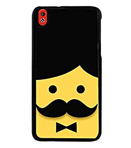 Fuson Designer Phone Back Case Cover HTC Desire 816 :: HTC Desire 816 Dual Sim :: HTC Desire 816G Dual Sim ( Face Of Man With Moustache )