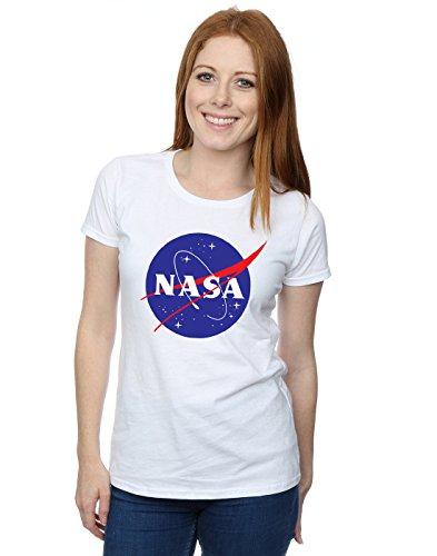 NASA Femme Classic Insignia Logo T-Shirt XX-Large blanc