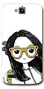 SEI HEI KI Designer Back Cover For Huawei Honor Holly - Multicolor