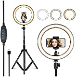 YOZTI LED Ring Light with Stand for Camera Smartphone You-Tube Video Shooting Instagram Reels and Makeup, MX Takatak, Musical