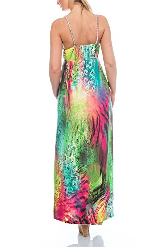 Martildo Fashion, Femmes Tropical Long Vacances Été Robe Maxi Kenya multicolore