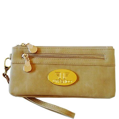 Utrendo Brieftasche Geldbörse Clutch Chicago im eleganten Leder Look. Neu 2016 (Geldbörse Hobo Handtasche Urban Leder)