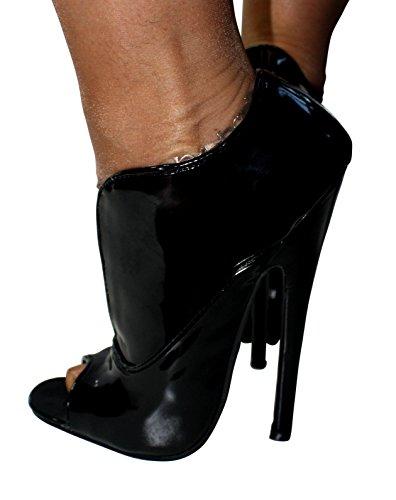 Erogance High Heels Extrem Peep Toes, Scarpe col tacco donna Nero (nero)