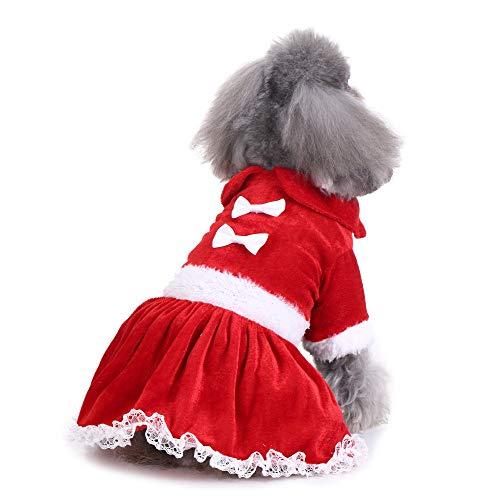üm - Haustier Hund Weihnachten Schmetterling Clip Rock,Nette Weihnachtsmode-Bequeme Haustier-Kleidungs-Festival-Kleiderrock(Rot,L) ()
