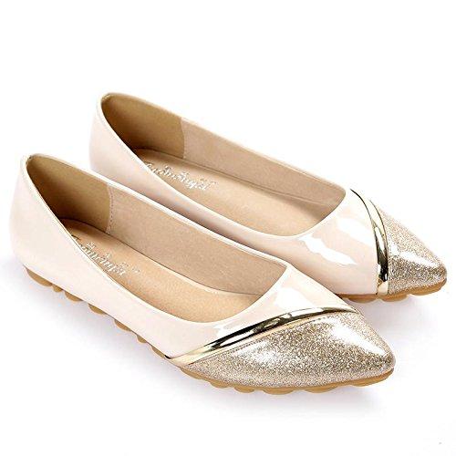 &qq Chaussures simples plates, pointues chaussures de demoiselle d'honneur, chaussures de mode 42