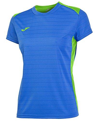 Joma 900242.720 T-shirt à manches courtes Femme Royal/Vert Fluo