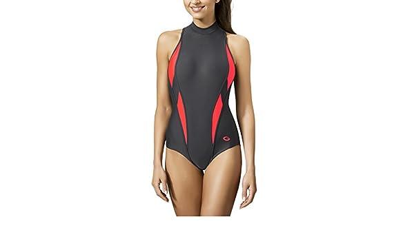 Einteiliger Damen Schwimmanzug Badeanzug Monokini LUCY Aqua-Speed