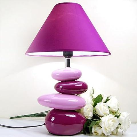 SBWYLT-Guijarro mesa mesa decorativas lámparas cabecera lámpara