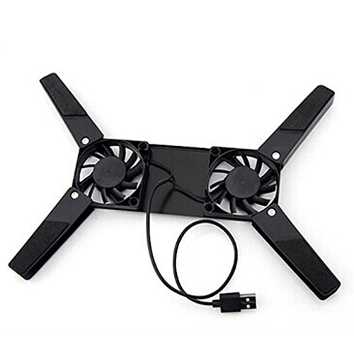 Rts™ USB Laptop/Notebook Folding Cooling Pad with 2 Fan - Black - 2 Year Warranty With Rts (Radhey Techno Services)  available at amazon for Rs.279