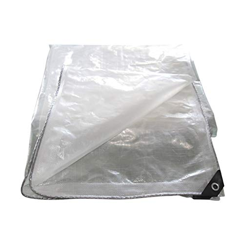 DENGJU Telone Impermeabile per Pioggia con Perforazione, telone agricolo Ispessito, Ombra per Piante Fiore Pioggia e telone Antipolvere 2 * 3m (Size : 4 * 4m)
