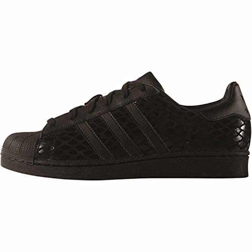 adidas Superstar W, Scarpe Low-Top Donna cblack/cblack/cblack