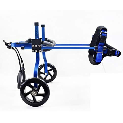 Jlxl Hunderollstuhl Gehhilfe Rollstuhl, Behinderung Lähmung Hinterbeine Wagen Aluminiumlegierung Einstellbar Praktisch Zum Reha-Auto (Farbe : B, größe : S)