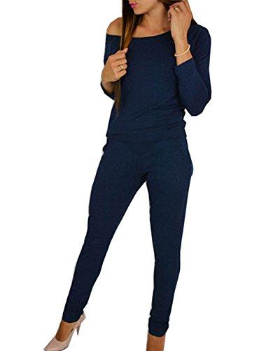 Mujer Jumpsuits Elegantes Fuera Hombro Manga Larga