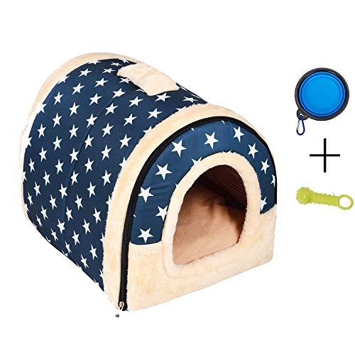 Enko Luxury Cozy 2-in-1 Pet House et Canapé, De Haute Qualité Intérieur et Extérieur Portable Foldable Dog Room / Lit Pour Chat. Donnez à Votre Animal un Maison Confortable. (Large, Bleu)
