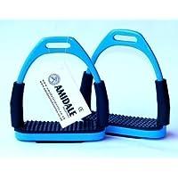 Amidale Flexible Seguridad Estribos Equitación Placas flexibles inox. Acero Azul De Cielo 4.75