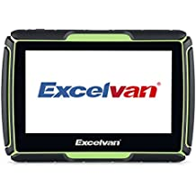 "Excelvan - Navegador GPS para moto de 4.3"" (Impermeable IPX7, 8GB, Bluetooth, Windows CE 6.0, Multi-idioma), color verde"