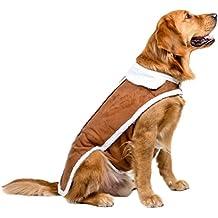 Jitong Pet Chaqueta Chaleco Perro Grande Abrigo de invierno Fleece Forrados de Chaleco Ropa para Perro