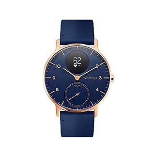 Withings Steel HR Hybrid Smartwatch - Reloj de fitness con frecuencia cardíaca y medición de actividad, 36 mm - azul, correa de cuero azul (B07PPCBXL8) | Amazon price tracker / tracking, Amazon price history charts, Amazon price watches, Amazon price drop alerts