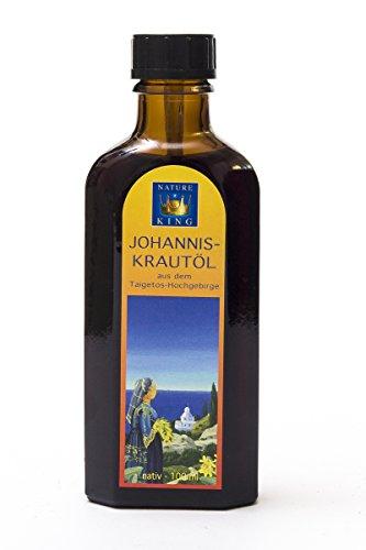 NatureKing 100ml Griechisches JOHANNISKRAUTÖL (Mazerat), Bio Olivenöl und Blüten aus Wildsammlung
